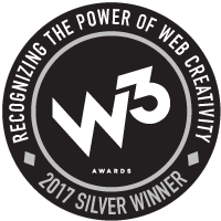 2017 W3 Silver Award for Website Design and Development