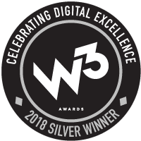 2018 W3 Silver Award for Website Design and Development